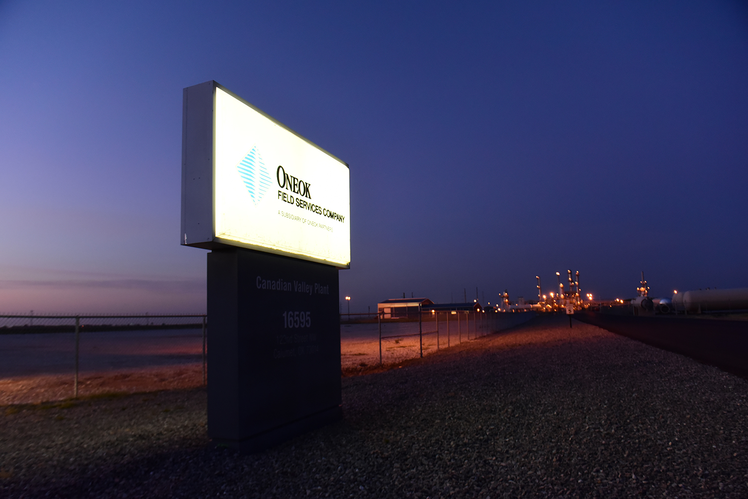 ONEOK Field Services sign